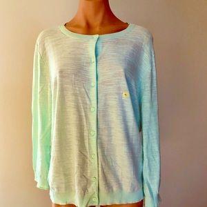 NWT Loft XL Mint Green Snub Cardigan Sweater